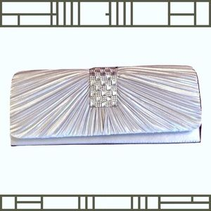 Handbags - Jeweled silver Art Deco clutch